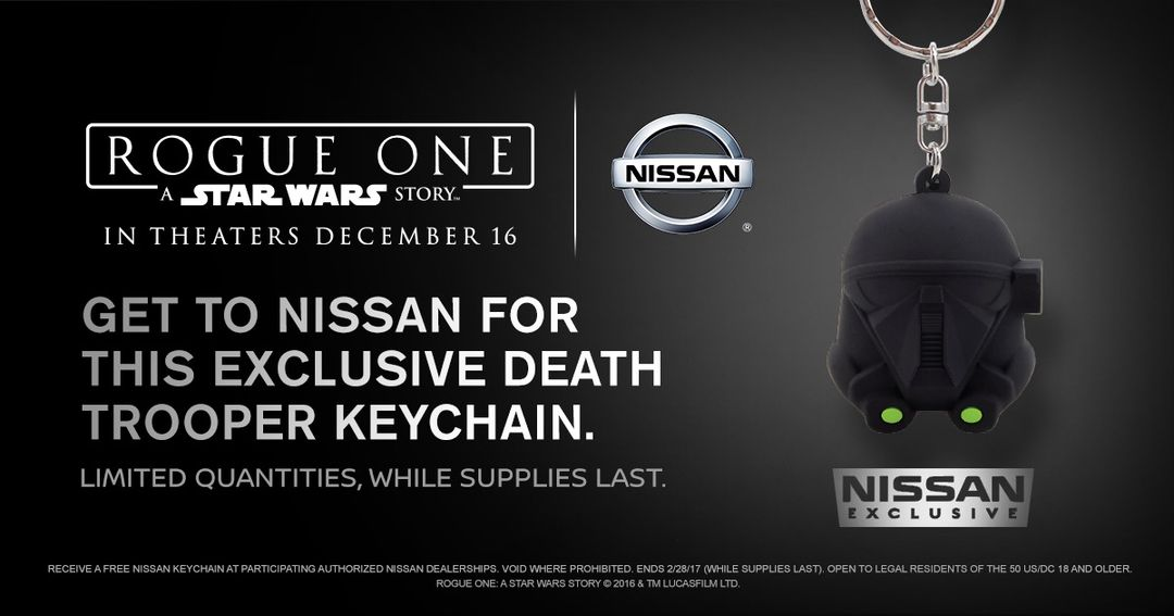 Nissan offers exclusive Rogue One: A Star Wars Story keychains a